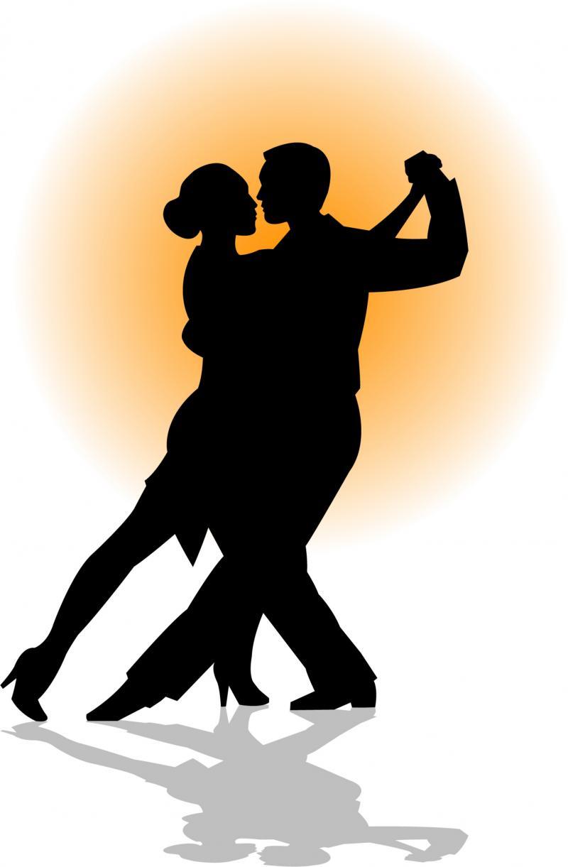 ... Clip Art Salsa dancing couple silhouette clipart - free clip art